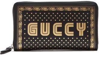 Gucci Logo-print leather wallet