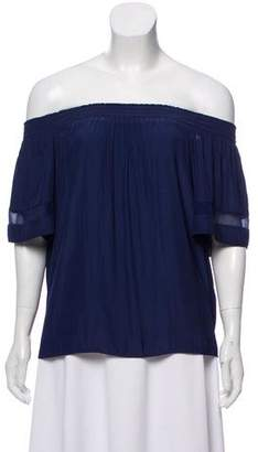 Ramy Brook Off-The-Shoulder Short Sleeve Blouse