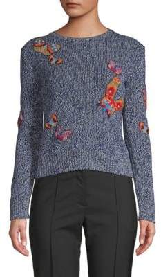 Valentino Butterfly-Patched Sweater