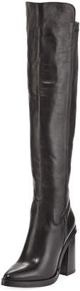 Charles David Shania Tall Leather Point-Toe Boots