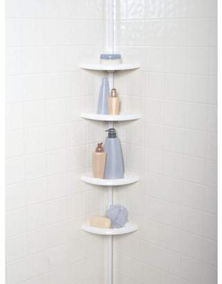 Mainstays 4-Tier Tension Pole Shower Caddy, White