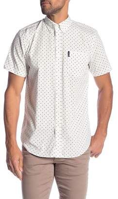 Ben Sherman Polkadot Short Sleeve Sport Fit Shirt