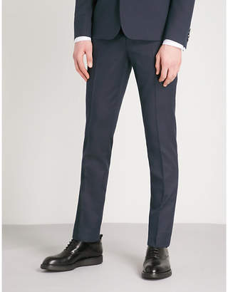 The Kooples Tapered wool and cotton-blend trousers