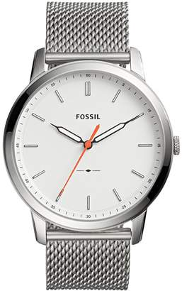 Fossil Men's 'Minimalist' Quartz Stainless Steel Casual Watch, Color -Toned (Model: FS5359)