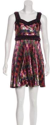 Marco De Vincenzo Metallic Mini Dress
