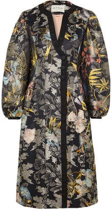Etro Metallic Jacquard Coat - Black