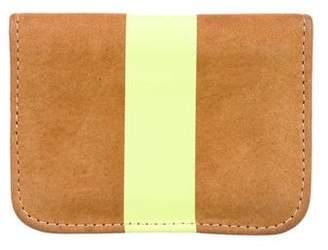 Clare Vivier Striped Leather Cardholder