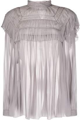 Alberta Ferretti embroidered chiffon blouse