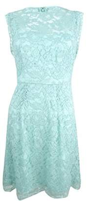 Betsey Johnson Women's Lace with Scalloped Sleeves Sheath Dress