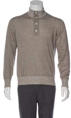 Loro Piana Cashmere & Silk-Blend Turtleneck Sweater