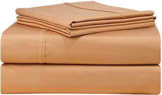 Pointehaven Solid 4-Pc. Queen Extra Deep Sheet Set, 500 Thread Count Cotton Sateen Bedding