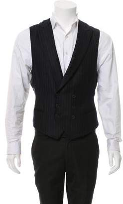 Bottega Veneta Double-Breasted Pinstripe Vest