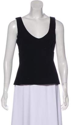 Miu Miu Sleeveless Wool Blouse