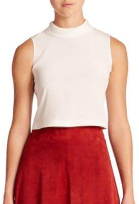 Elle Sasson Tess Silk Crop Top