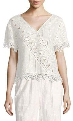 Opening Ceremony Broderie Anglaise Popover Cotton Top