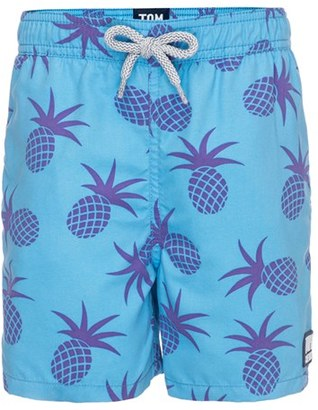 Toddler Boy's Tom & Teddy Pineapple Swim Trunks $59.95 thestylecure.com