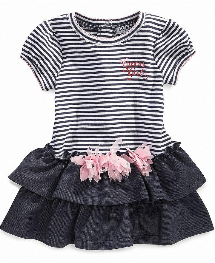 GUESS Dress, Baby Girls Drop Waist Dress with Flower