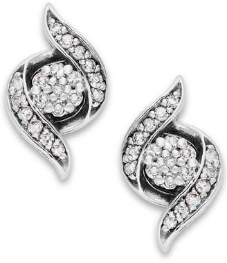 Wrapped in Love Diamond Twist Earrings in 14k White Gold (1/4 ct. t.w.), Created for Macy's