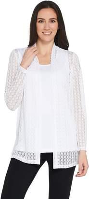 Susan Graver Crochet Cardigan and Knit Tank Set
