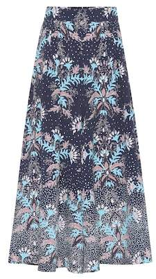 Peter Pilotto Floral high-rise seersucker culottes