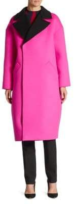 Oscar de la Renta Dropped Shoulder Coat