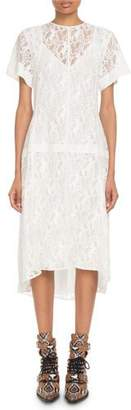 Chloé Short-Sleeve Heritage Horse-Lace Dress