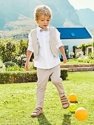 Vertbaudet Occasion Wear Cotton/Linen Waistcoat for Boys
