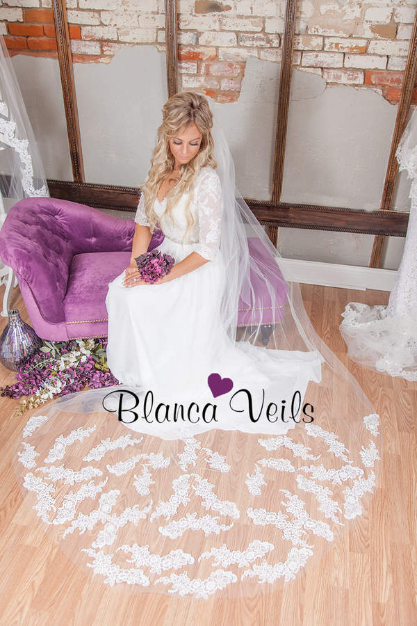 Etsy Lace Wedding Veil