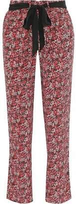 Joie Julietta Floral-Print Silk Tapered Pants