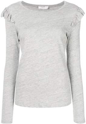 Frame ruffled detail T-shirt