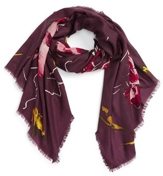 Women's Nordstrom Expressionist Floral Print Scarf $59 thestylecure.com