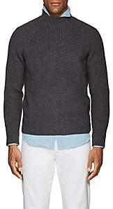 Eleventy Men's Virgin Wool Mock-Turtleneck Sweater - Dark Gray