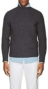 Eleventy Men's Virgin Wool Mock-Turtleneck Sweater-Dark Gray