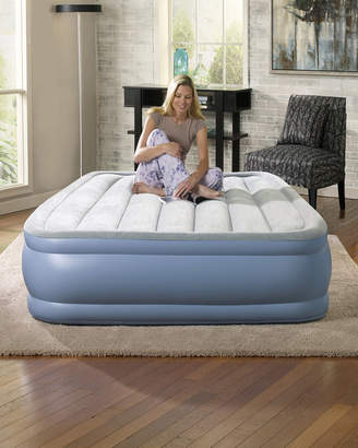 Simmons Hi Loft Full Size Raised Air Bed Mattress with Express Pump