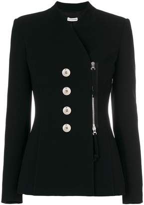 Altuzarra off centre zipped fitted jacket