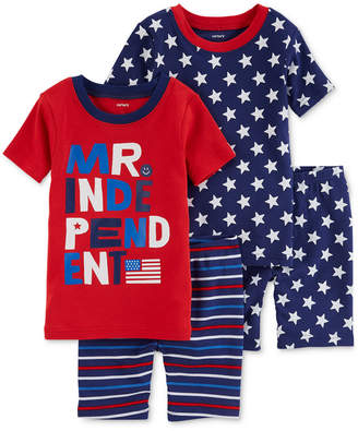 Carter's 4-Pc. Printed Cotton Pajamas Set, Baby Boys