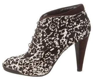 Tod's Ponyhair Lace-Up Ankle Boots