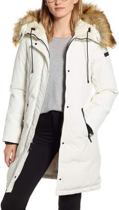 Sam Edelman Faux Fur Trim Down Jacket