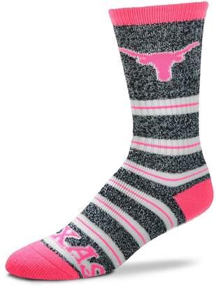 For Bare Feet Women's Texas Longhorns Striped Crew Socks