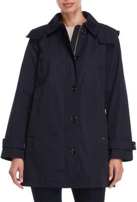 MICHAEL Michael Kors Solid Hooded Raincoat