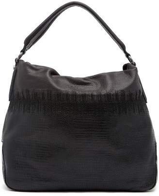 Liebeskind Berlin Yokohama Ombre Lizard Embossed Leather Hobo