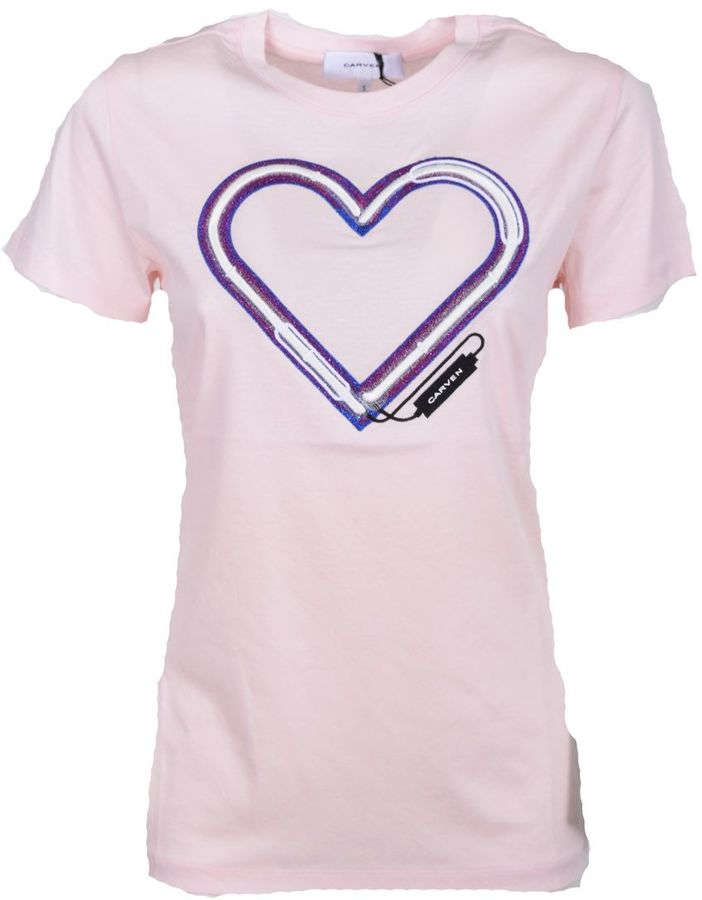 Carven Carven Heart Printed T-shirt