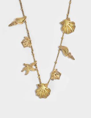 Versace Tribute Trésor de la Mer Necklace in Gold Metal