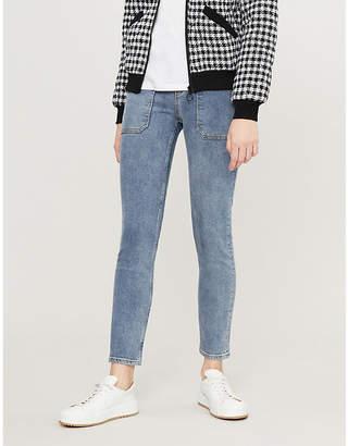 Claudie Pierlot Pool utility-pocket high-rise skinny jeans