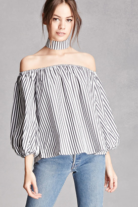 FOREVER 21+ Striped Choker Top $45 thestylecure.com