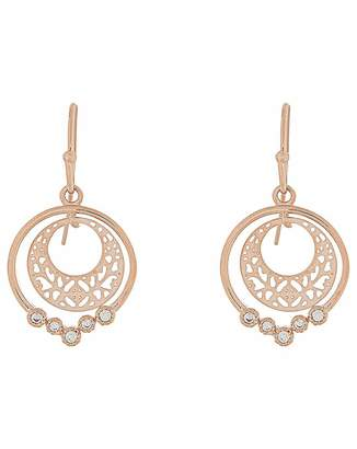 Accessorize Rose Gold Amira Filigree Short Drop