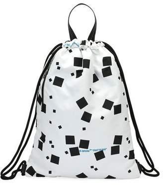 Off-White Men's Geometric Canvas Sling Sack Backpack