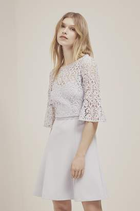 French Connection Whisper Ruth Lace Fit And Flare Dress