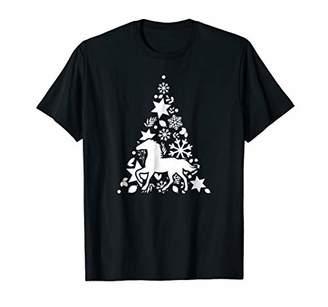 Horse Christmas Gifts Horse Christmas Tree Shirt Funny