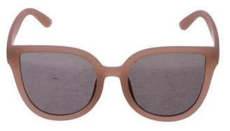 Quay Mirrored Oversize Cat-Eye Sunglasses